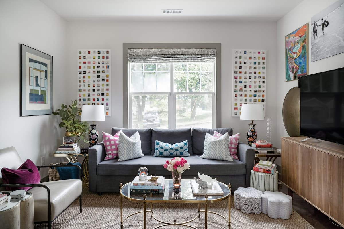 Chic Designer Home Brimming with Eclectic Art