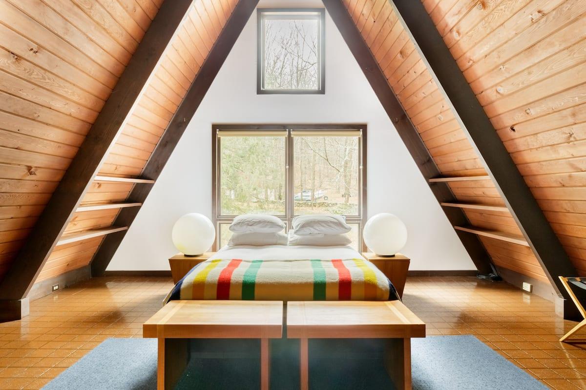 Mid-Century Modern A-Frame Home on Six Acres