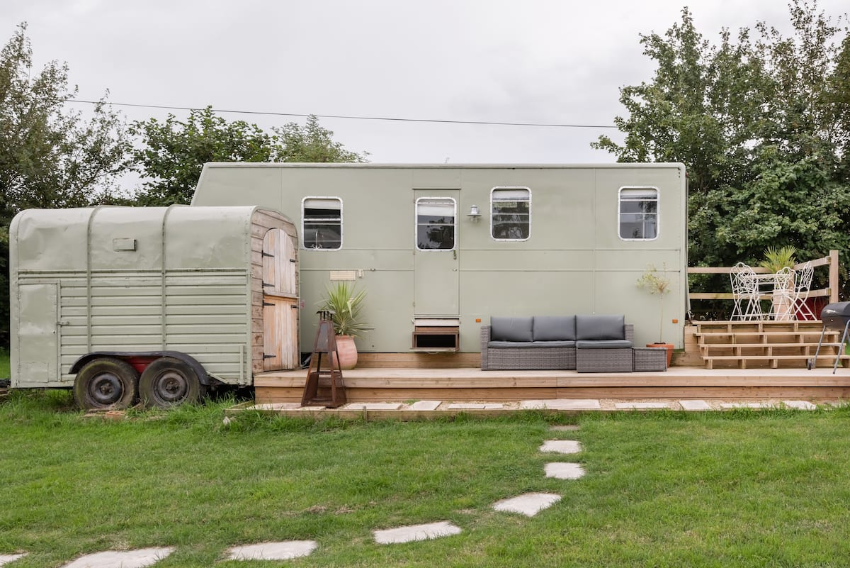 Gaze Out at Countryside Views from a Vintage Horse Box