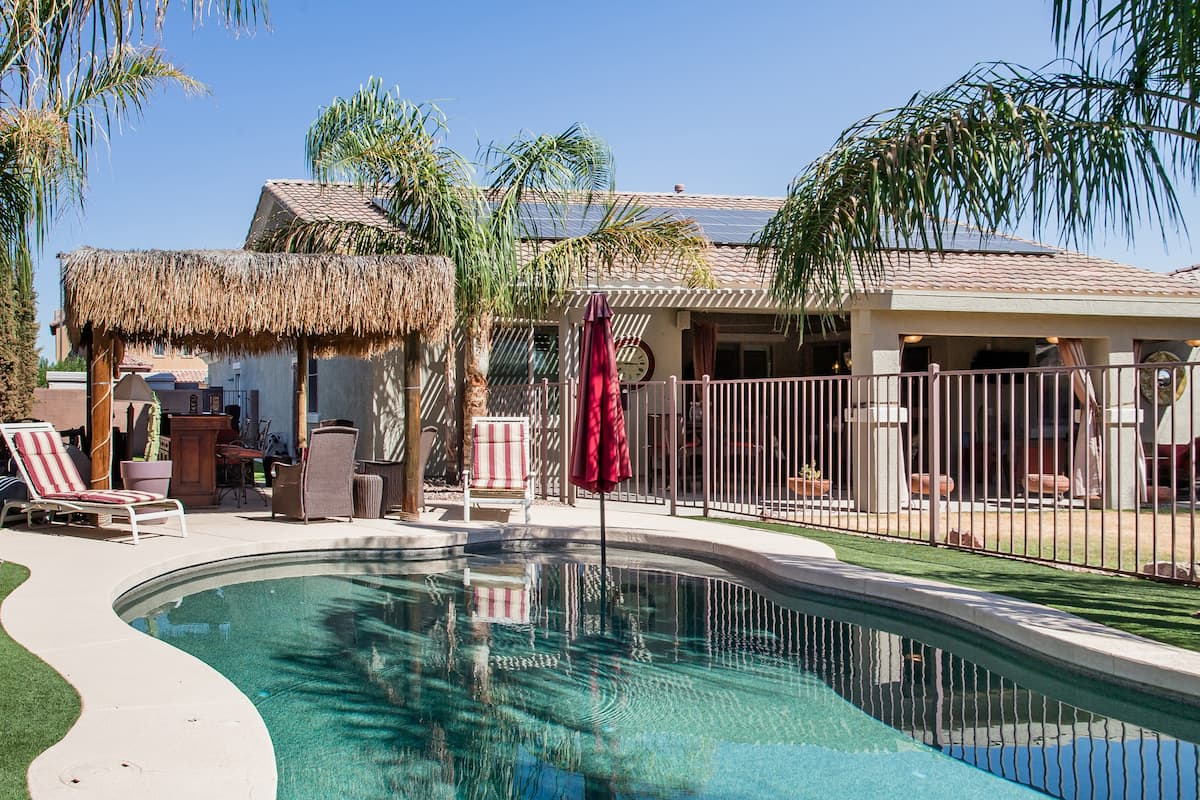 Family-Friendly Home with a Pool and BBQ Patio