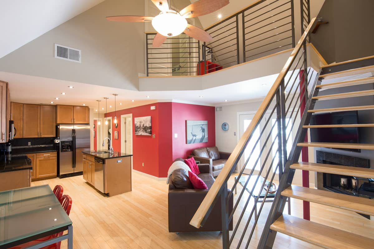 Recharge in a Modern, Two-Story Condominium in the Heart of Downtown