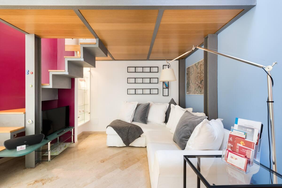 Una casa di design e accogliente per vivere Trastevere e Testaccio