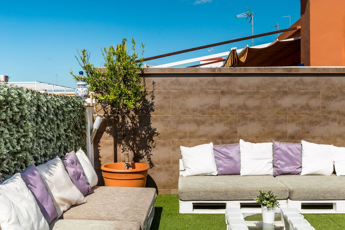 Loft with private terrace and common roof terrace in San Bernardo