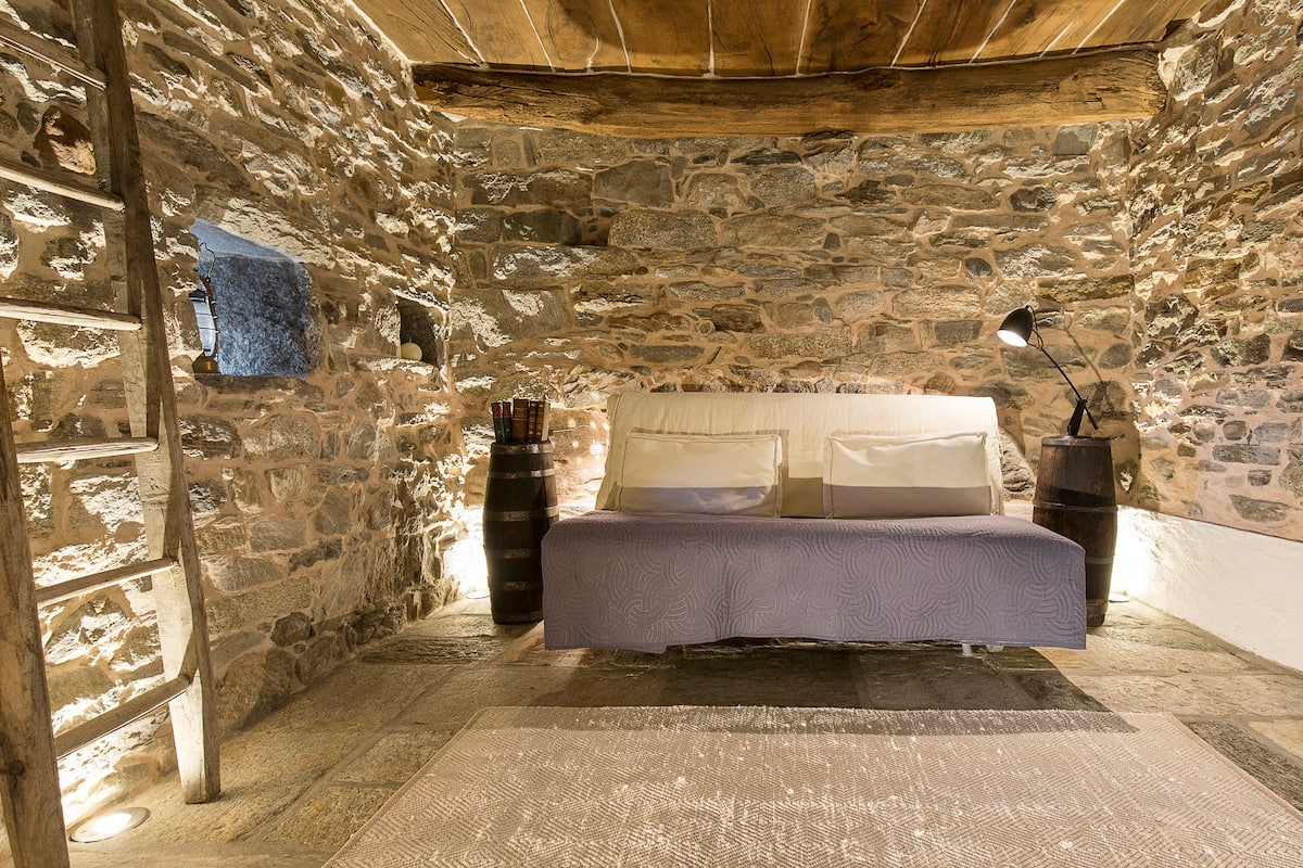 Medieval Stone Retreat with Lake Views