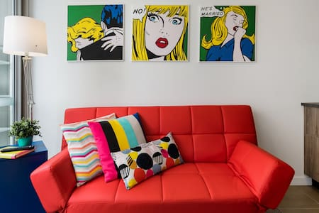Pop Art Studio in a Hip Area near Award-Winning Restaurants