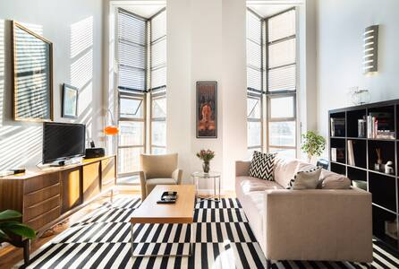 Explore the City from a Central, Art Deco Loft