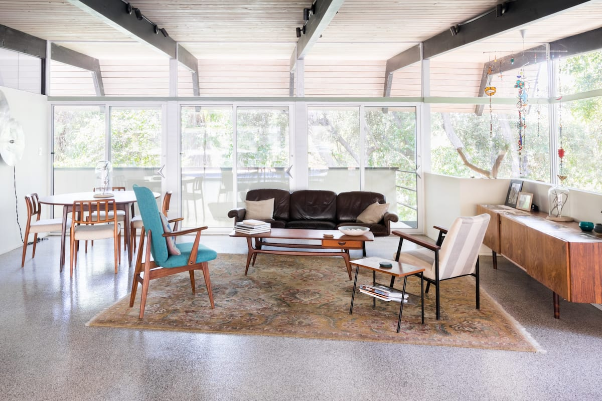 Come Hide Away In Our 1960s Mid-Century Nature-Wrapped Villa