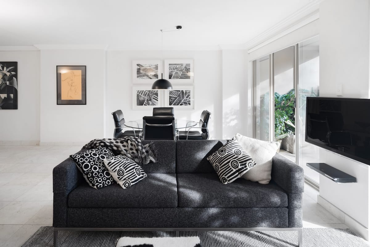Chill in the Monochrome Surroundings of a Chic City Abode