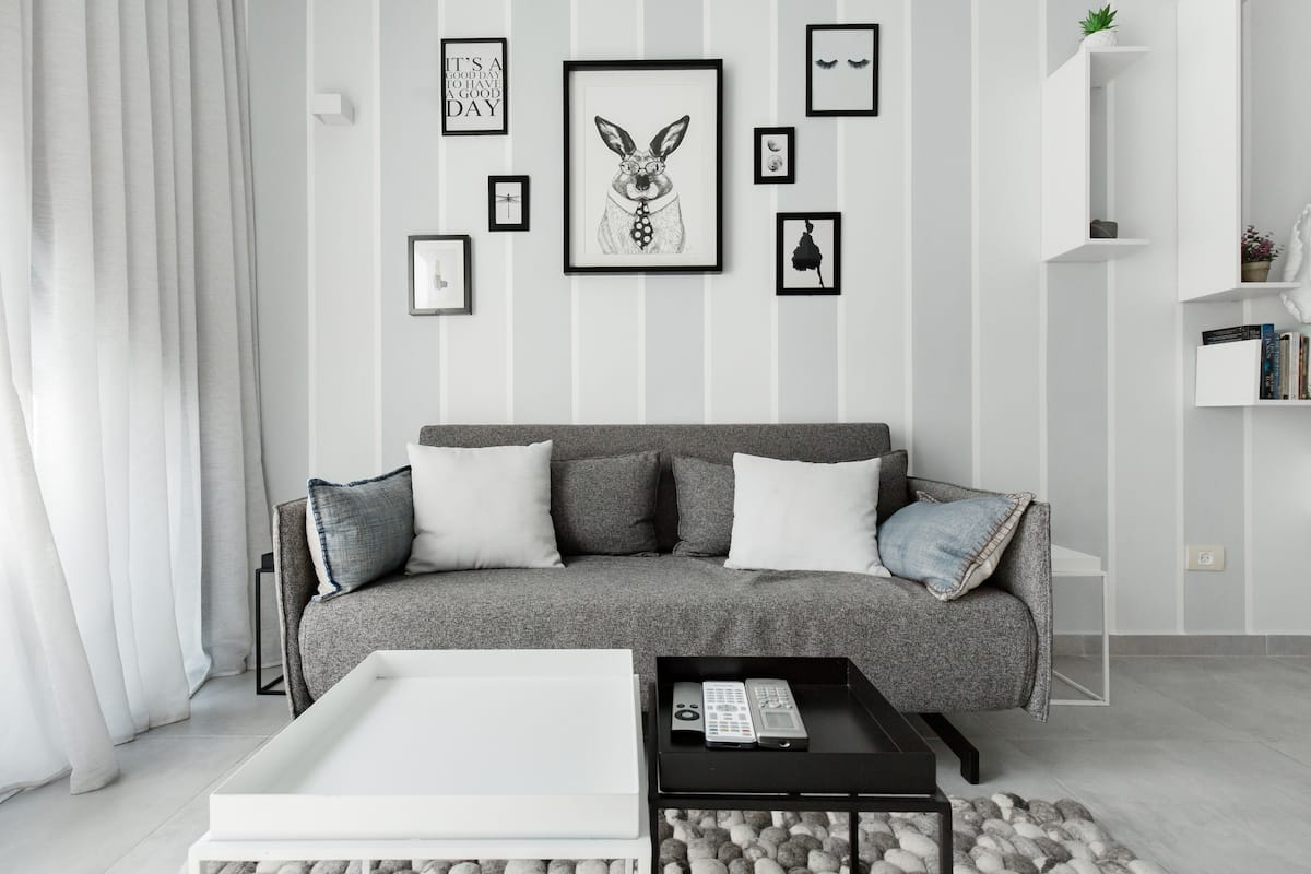 Explore Architecture from an Apartment in Shades of Grey