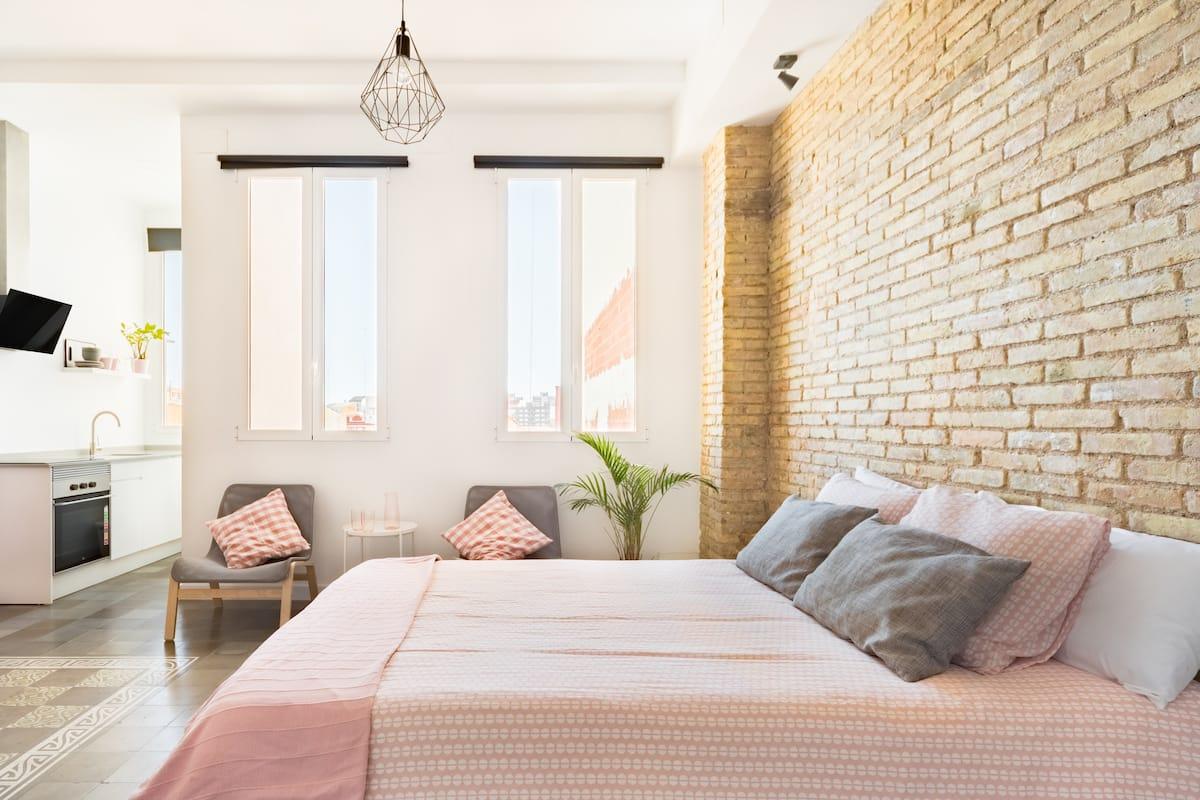 Alojarse en un loft en el barrio de moda