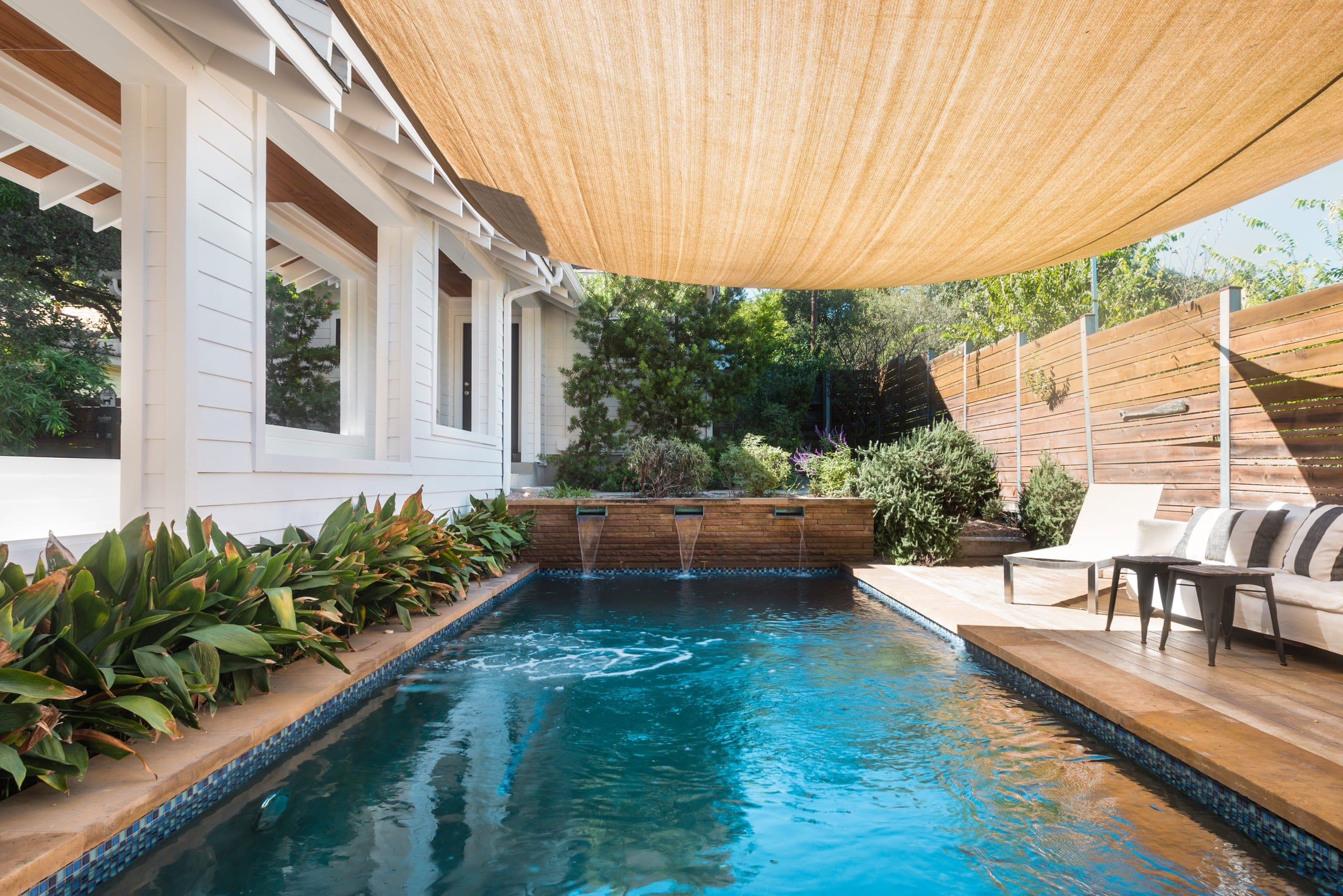 Take In A Dip In The Heated Pool At A Luxury Soco Retreat Houses For Rent In Austin Texas United States