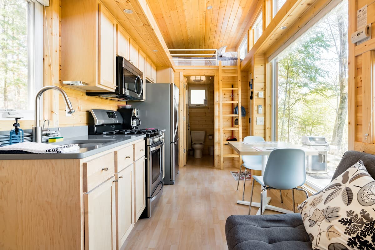 Tiny House perched over the Catskill Creek