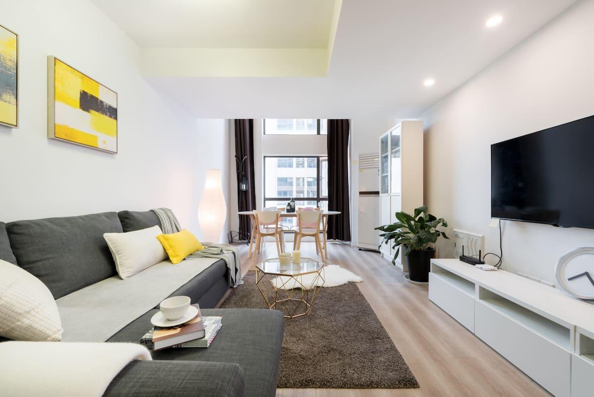 入住地铁口高品质超高整套复式公寓