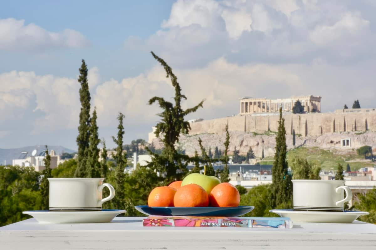 Stunning Acropolis View from a Sunny Renovated Apartment