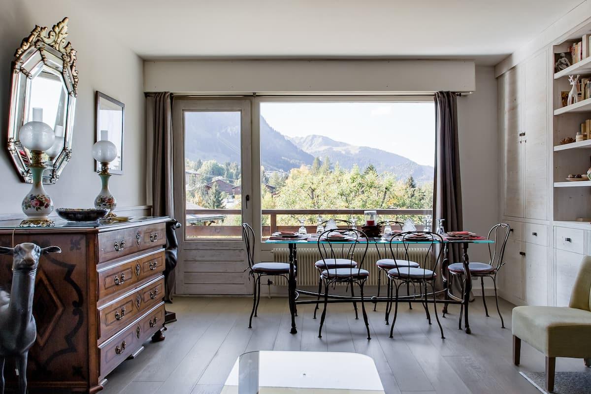 Appartement avec vue exceptionnelle dans une résidence de standing à Megève