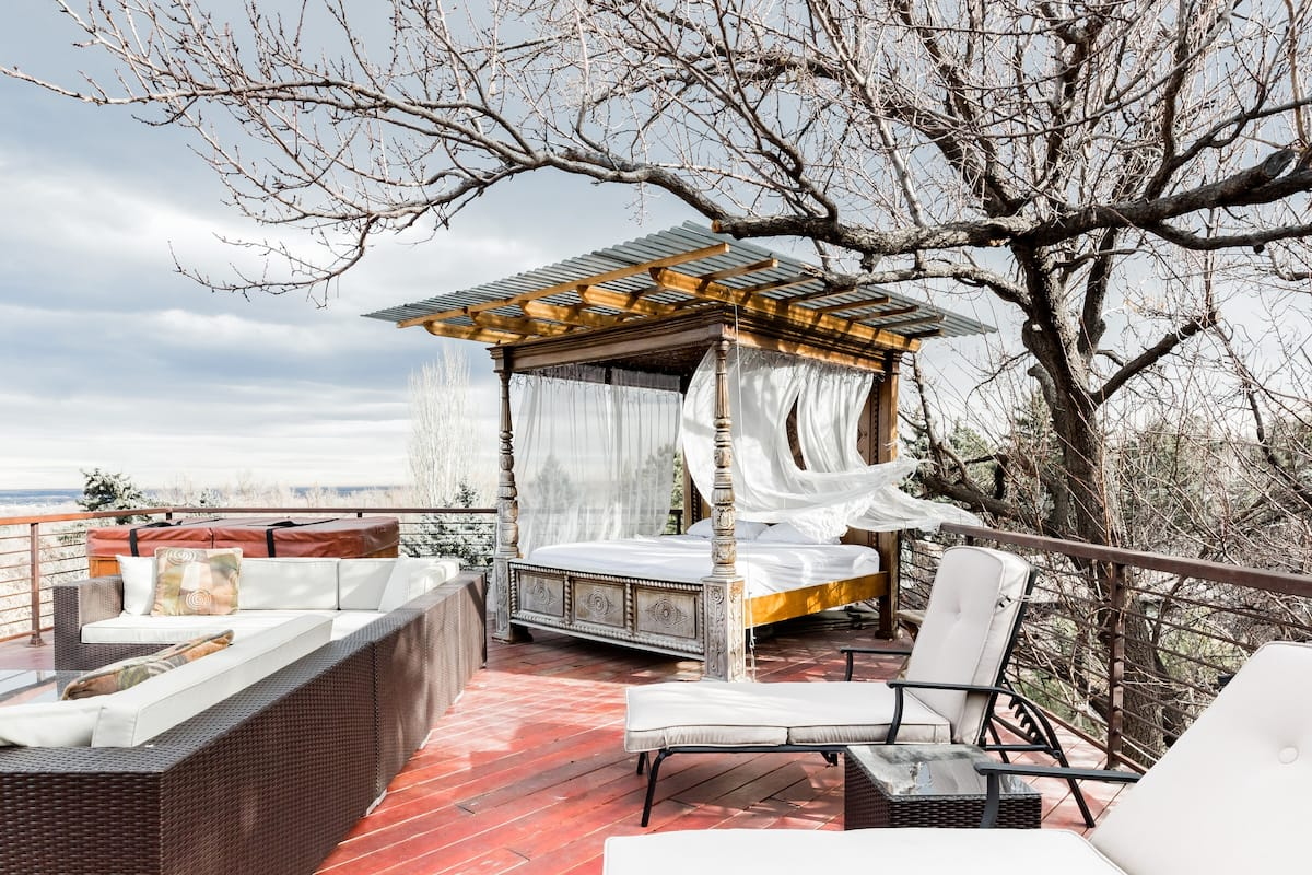 Views of Boulder and the Rockies from Your Balinese Day Bed