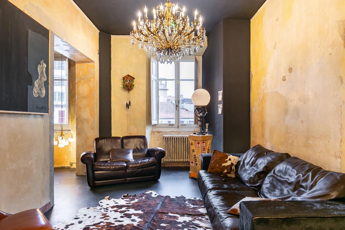 Eclectic, Rough-Luxe Apartment in Arezzo