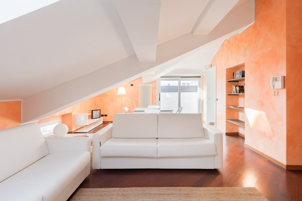 Airy Attic Apartment in an Art Nouveau Villa