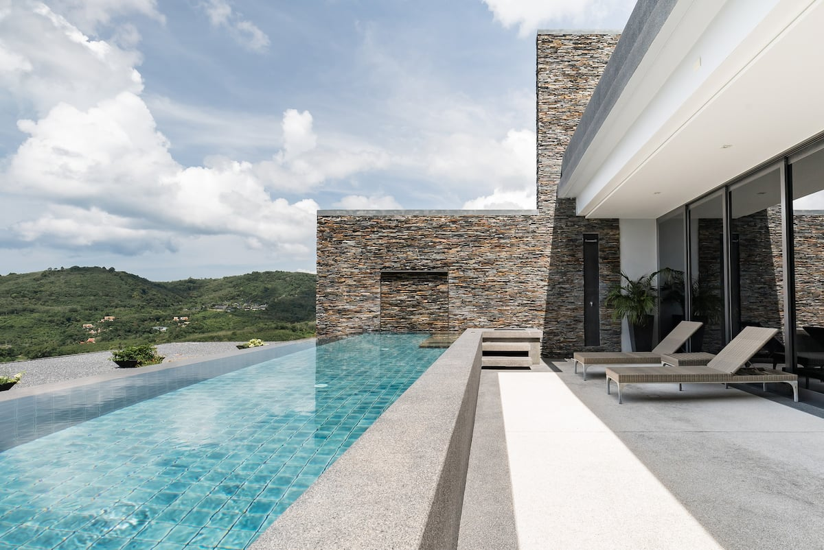 Luxury Hillside Residence with Panoramic Sea Views