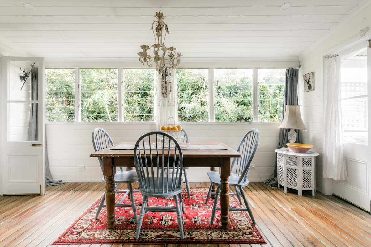 Boho Charm at a Whitewashed Garden Oasis in the Hinterland