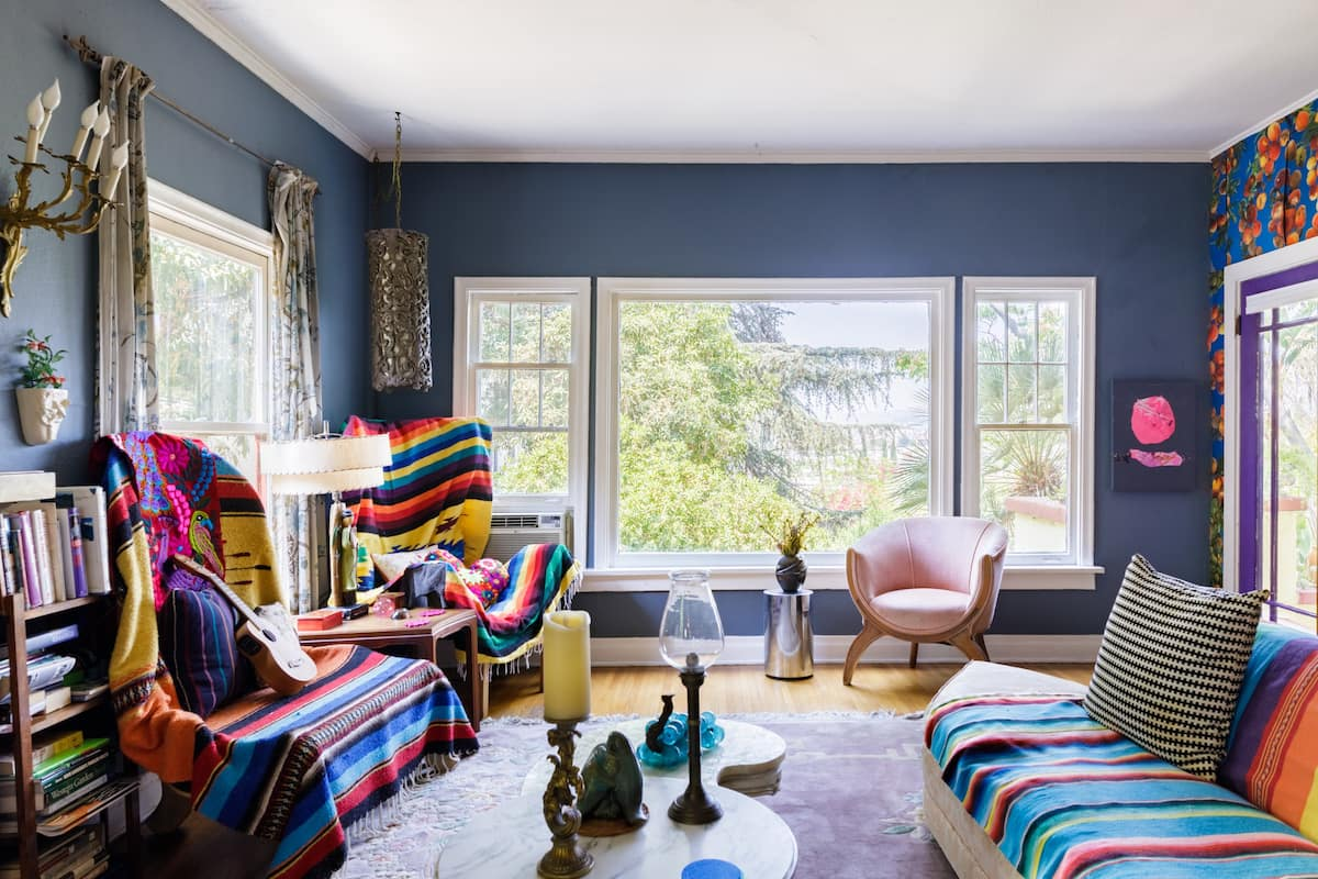 Garden Views and Bold Art at an Eclectic Hideaway