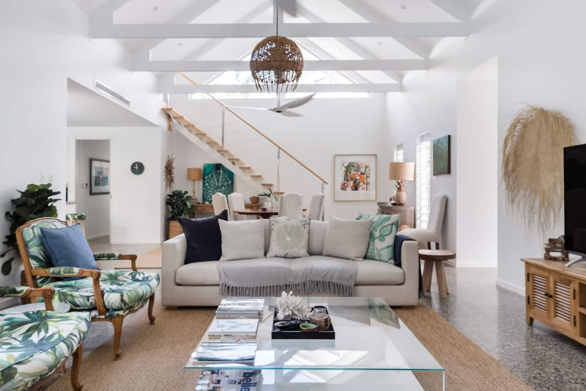 Stroll Along the Beach from This Designer Home