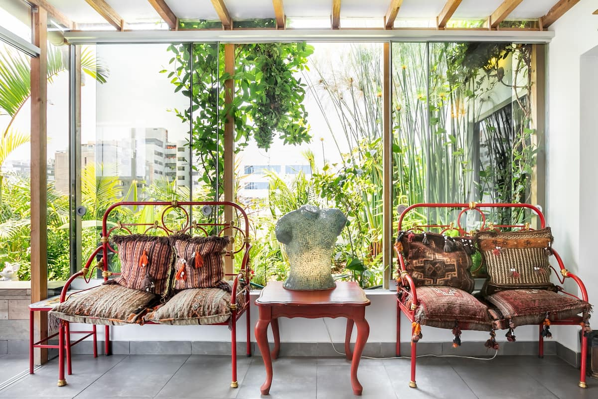 Hit Miraflores Boardwalk from a Boho Home with Roof Terrace