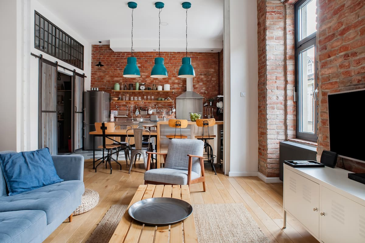 Kick Back at a Cool Urban Oasis with Industrial-Chic Style