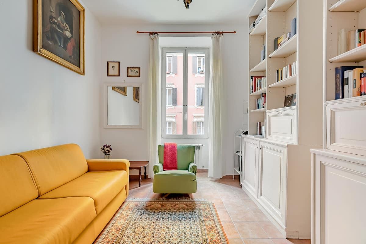 Appartamento romano dall'arredamento classico e dall'atmosfera familiare