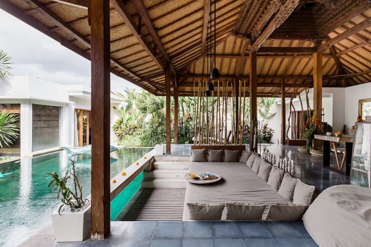Kick Back at a Traditional Teak Joglo in Tropical Gardens