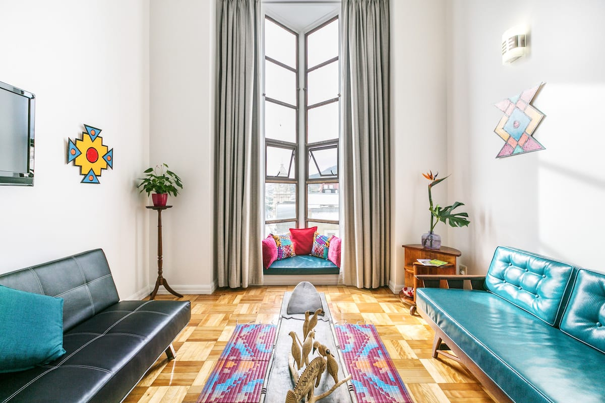 Step into Cape Town City from Afro Deco Apartment
