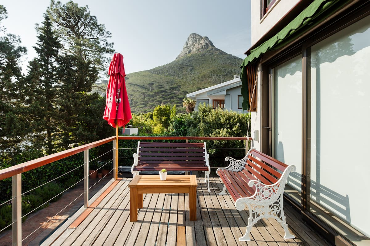 Majestic Mountain Views from the Patio of a Designer Studio