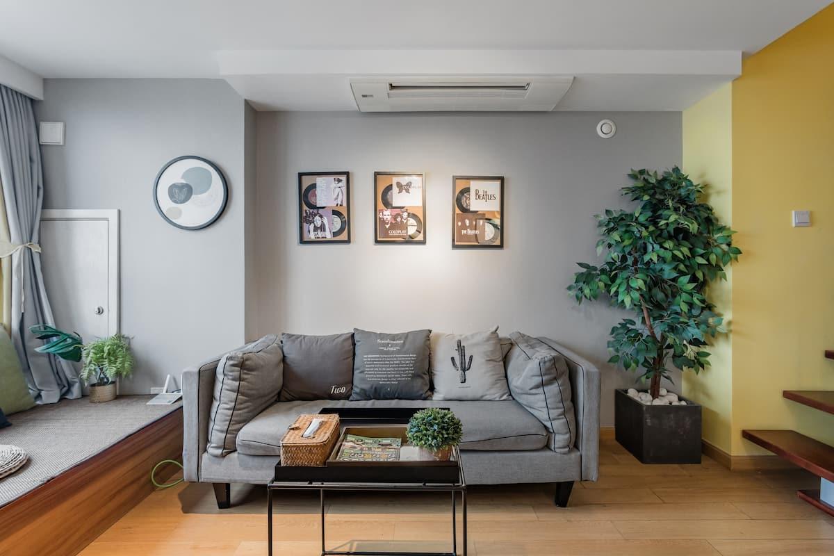 【暖·行】夫子庙老门东3号线地铁美式工业风loft两室公寓