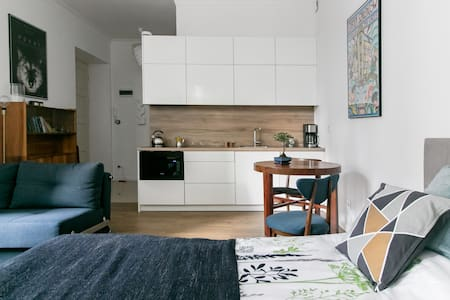 Retro Inspired Minimalist Studio Apartment