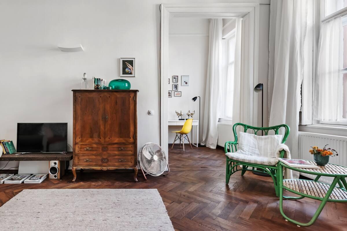 Wander the Rich Herringbone Floors at a City Sanctuary