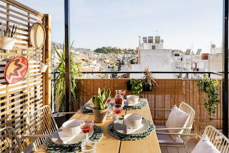 See the Acropolis from a Bright and Chic Loft