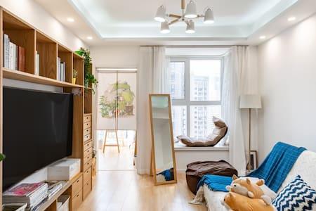 邻近三号线地铁口带阳台完整厨房日式原木高档居室(已消毒)