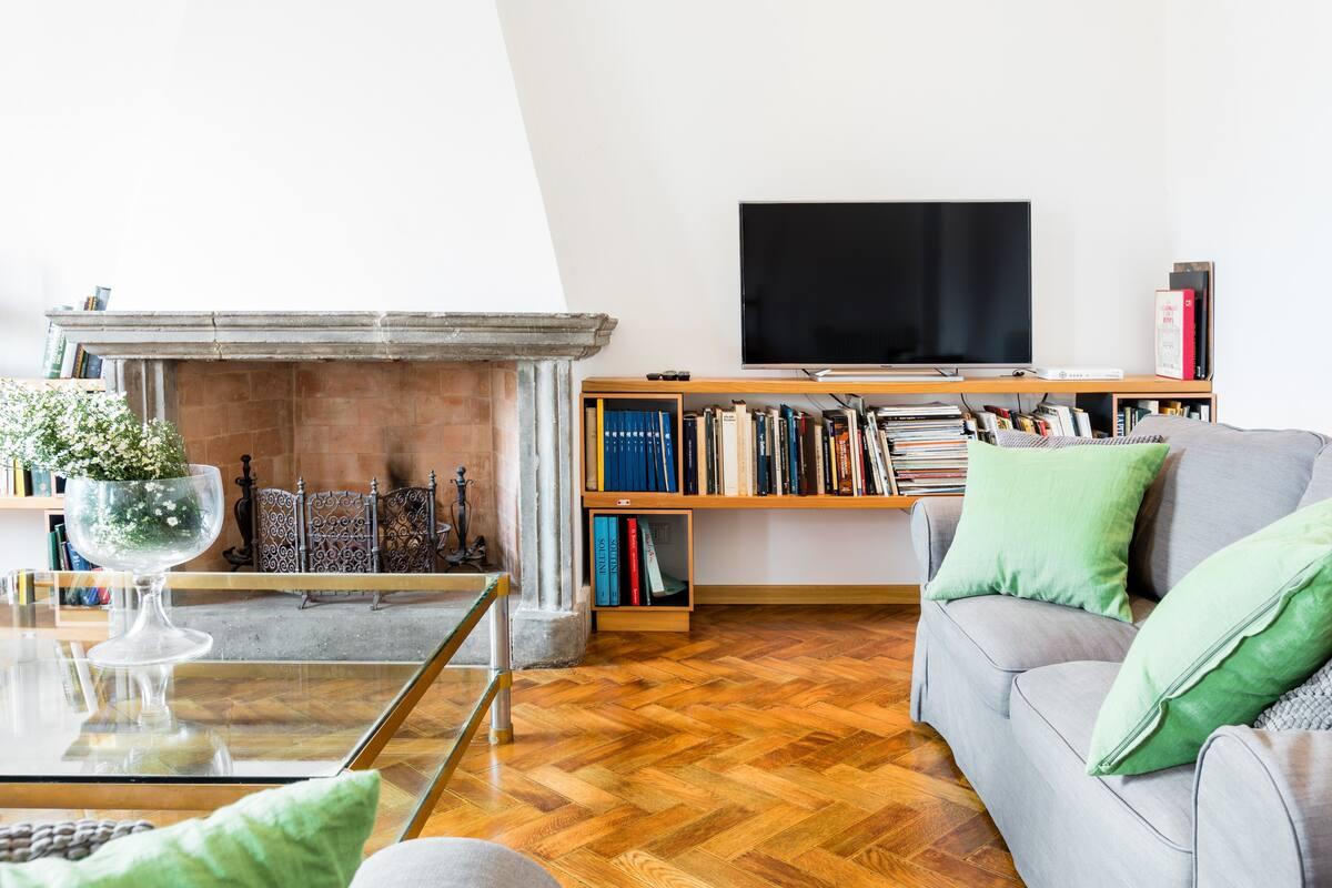 Elegante e classico attico con terrazzo vicino al Vaticano