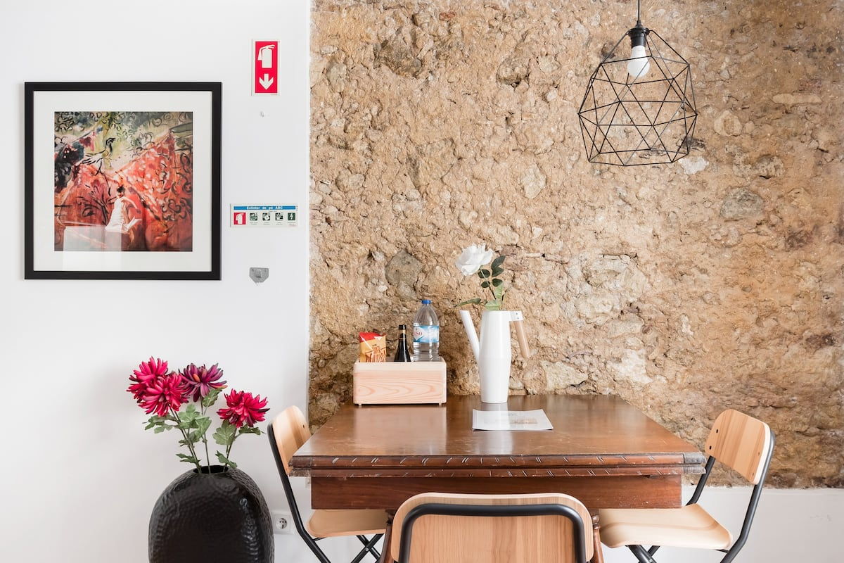 Snuggle up in the Cozy Window Nook at an Alfama Abode