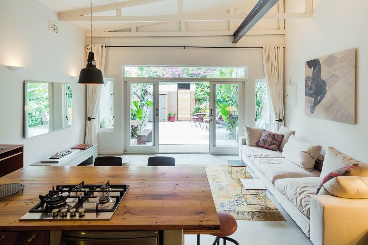 Dutch-Style Farmhouse Cottage with Tropical Garden