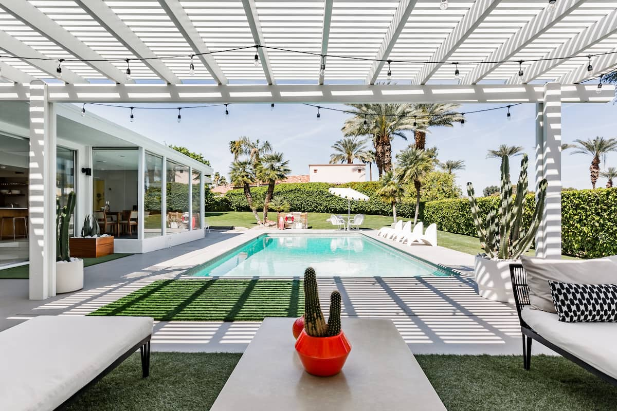 Poolside Lounge at Mid-Century Haven