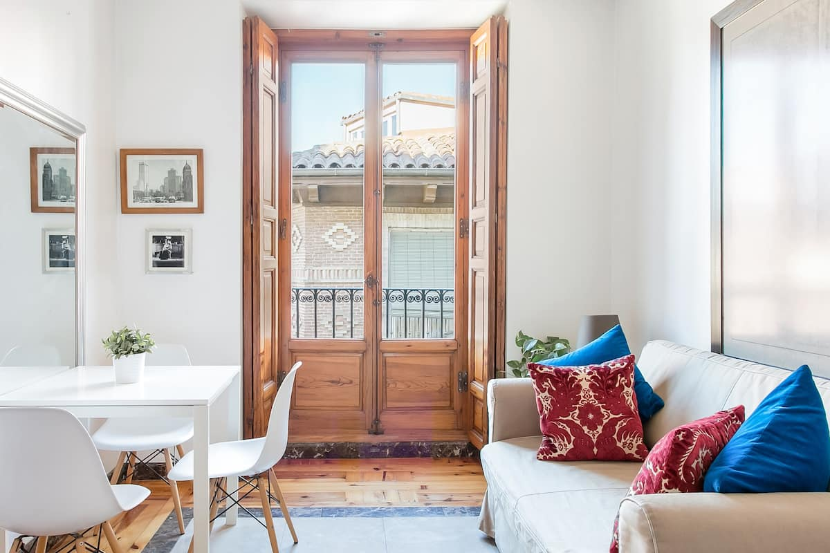 Views of San Andres Baroque from a Central Madrid Apartment