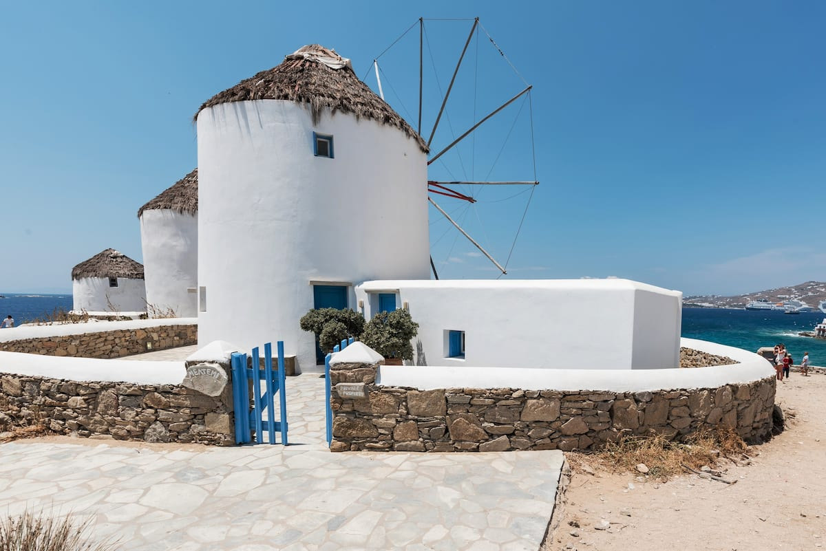 Meltemi Windmill—Iconic Landmark Offering Stunning Views