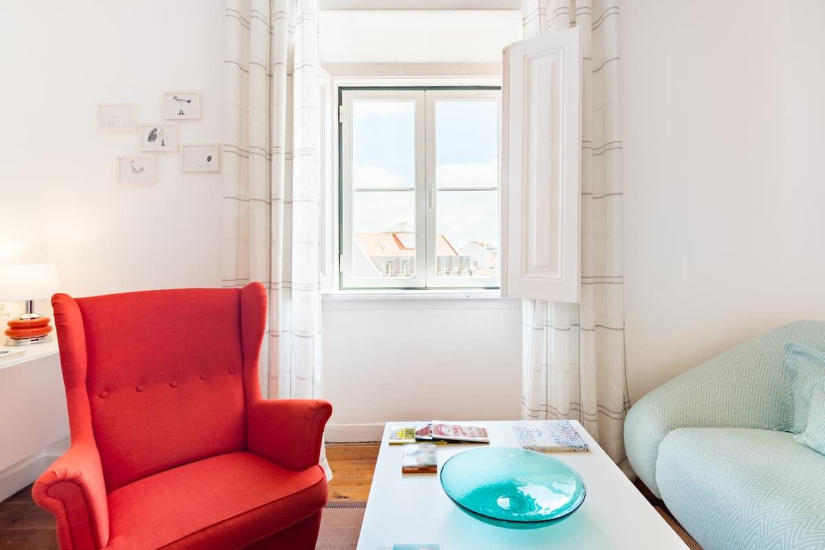 Encantador apartamento de estilo vintage con magníficas vistas de Lisboa