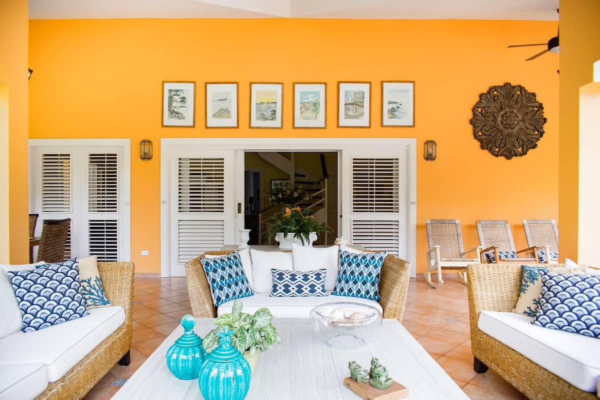 Designer Caribbean Villa Steps from Playa Bonita Beach