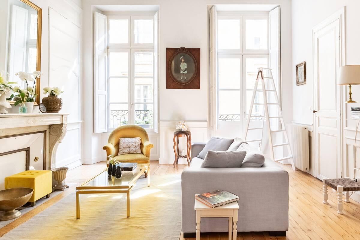 Appartement chic et raffiné avec terrasse au cœur de Bordeaux