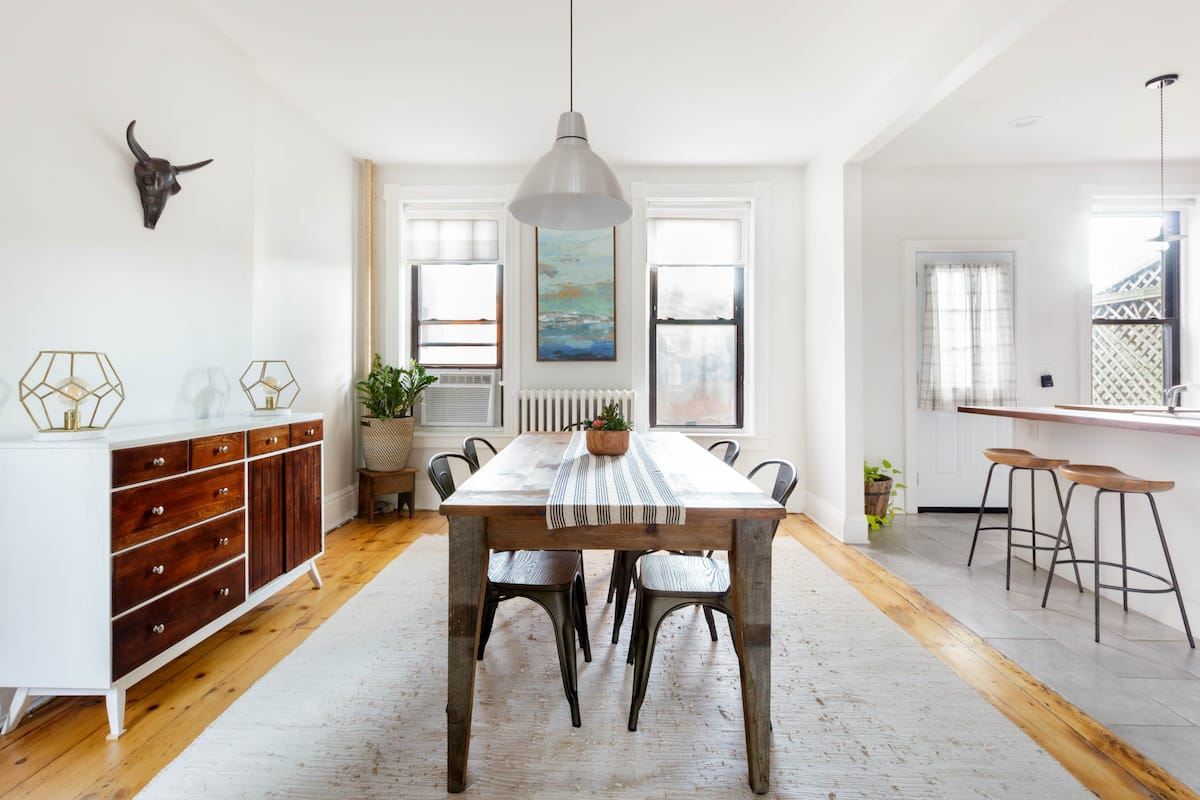 Kick Back in a Modern Townhouse with Vintage Style