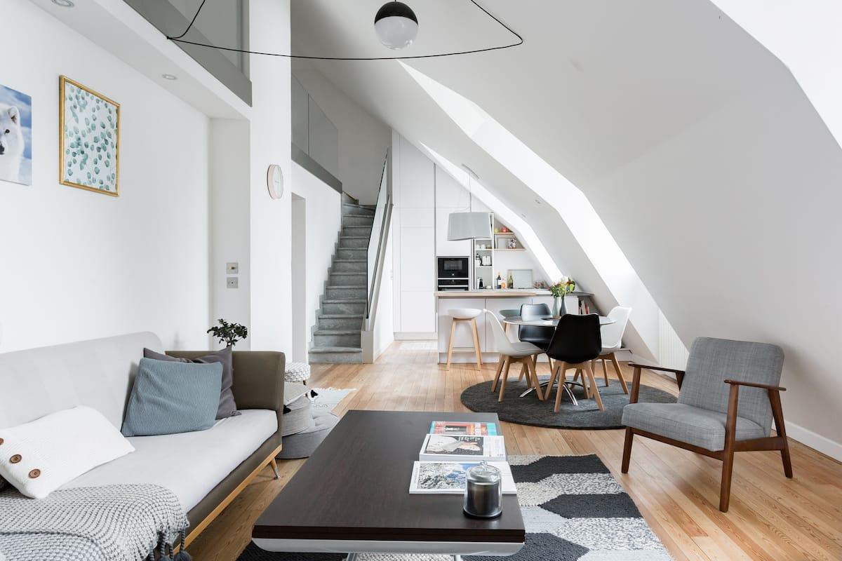 Duplex luxe avec vue Mont-Blanc, centre ville Cham