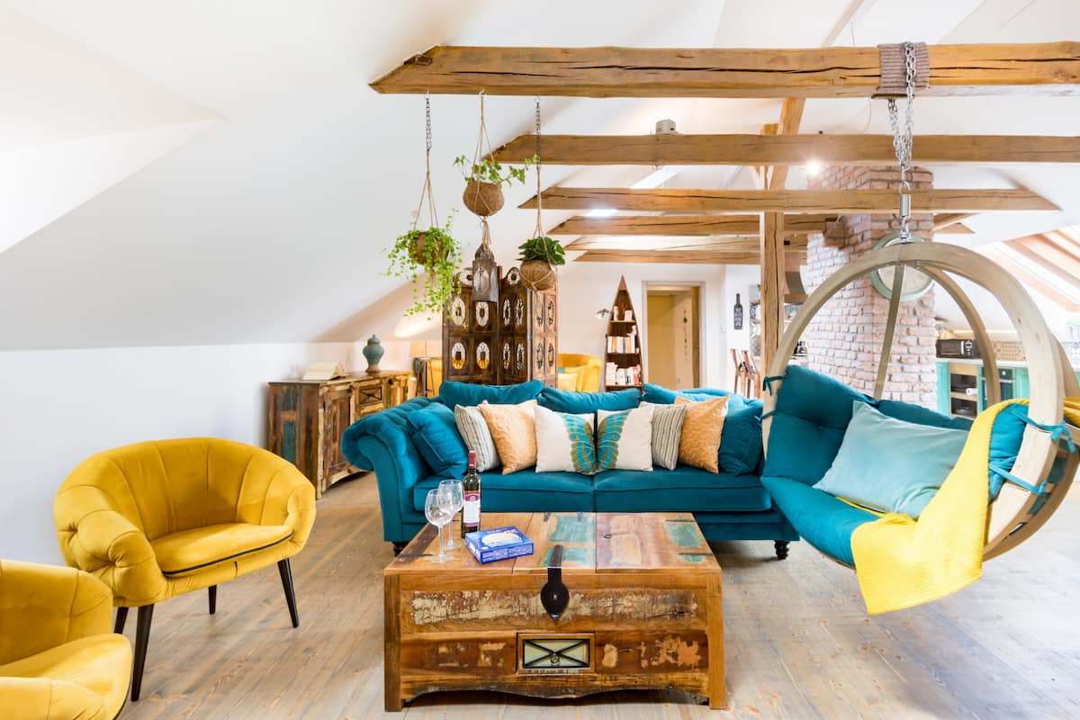 Chill in the Hanging Chair in a Boho-Chic Loft
