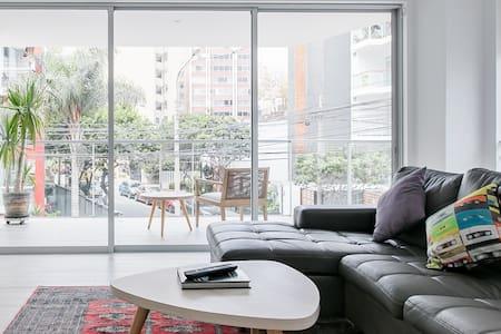 Open Minimalist Apartment in Miraflores near Larcomar Mall